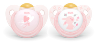 NUK: Latex Soothers Baby - Rose (2pk/6-18mths) image