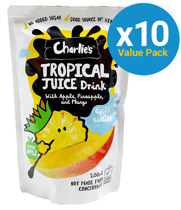 Charlie's Kid's Juices Tropical 200ml (10 Pack)