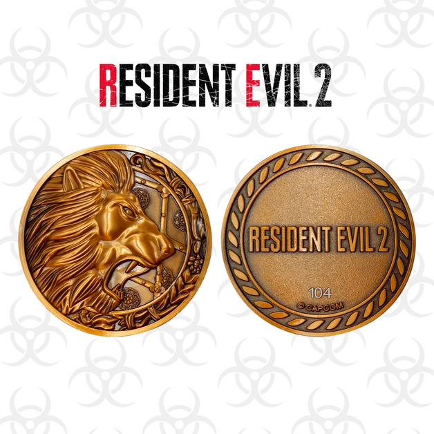 Resident Evil 2: Collectable Medallion - Lion