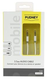 Pudney: 3.5mm Stereo Plug To 3.5mm Stereo Plug 0.5 Metre - White