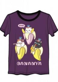 Bananya: 3 Kittens - Ringer T-Shirt (Medium)