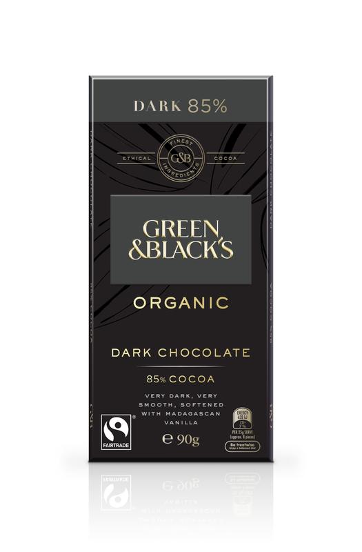 Green & Black's Organic Dark Chocolate 85% Cocoa (90g)