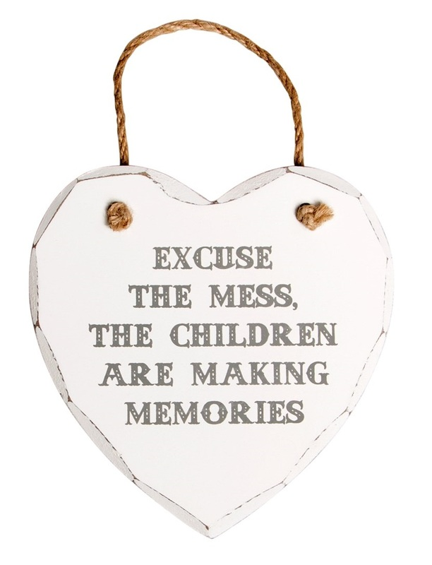 Sass & Belle: Excuse The Mess - Heart Plaque