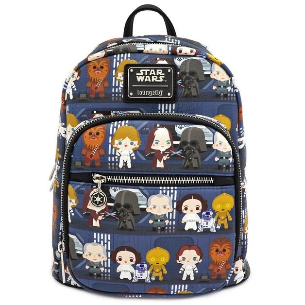 Loungefly: Star Wars - Death Star Chibi Print Mini Backpack
