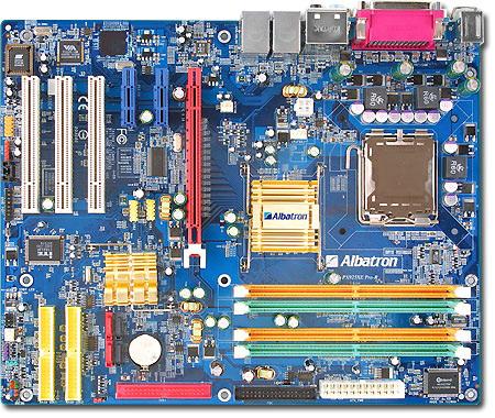 ALBATRON MOTHERBOARD PX925XE PRO-R P4 RAID+SATA+LAN+5.1SND DDR2 RAM image