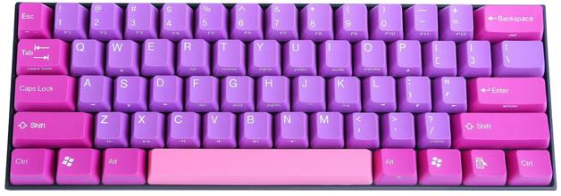 KBParadise V60 Type R MX Blue 60% Mechanical Keyboard Purple Dream