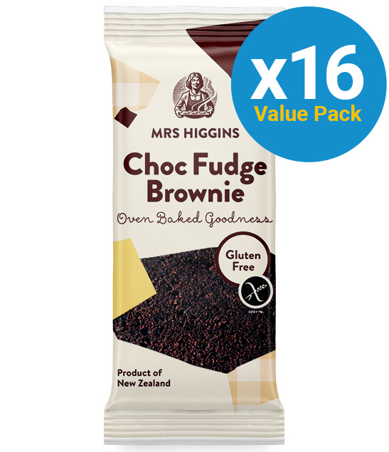 Mrs Higgins: Gluten Free Cookie Choc Fudge Brownie 60g (16 Pack)