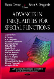 Advances in Inequalities for Special Functions image