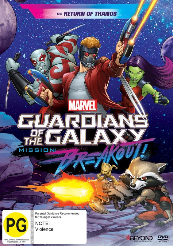 Guardians Of The Galaxy: Mission Breakout: The Return of Thanos on DVD