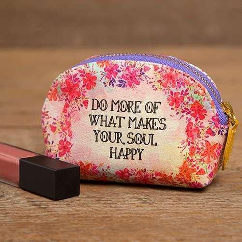 Natural Life: Vegan Cosmetic Bag - More Soul Happy
