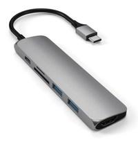 SATECHI: Slim USB-C MultiPort Adapter Version 2 - Space Grey