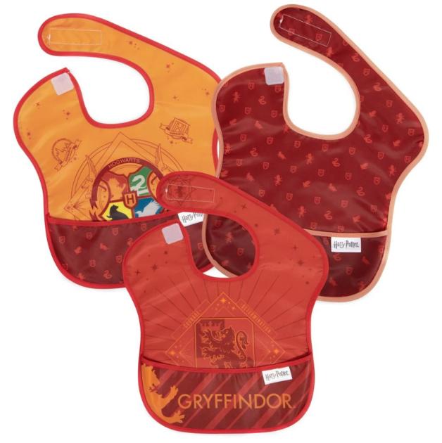 Bumkins: Waterproof SuperBib 3-Pack - Harry Potter: Gryffindor