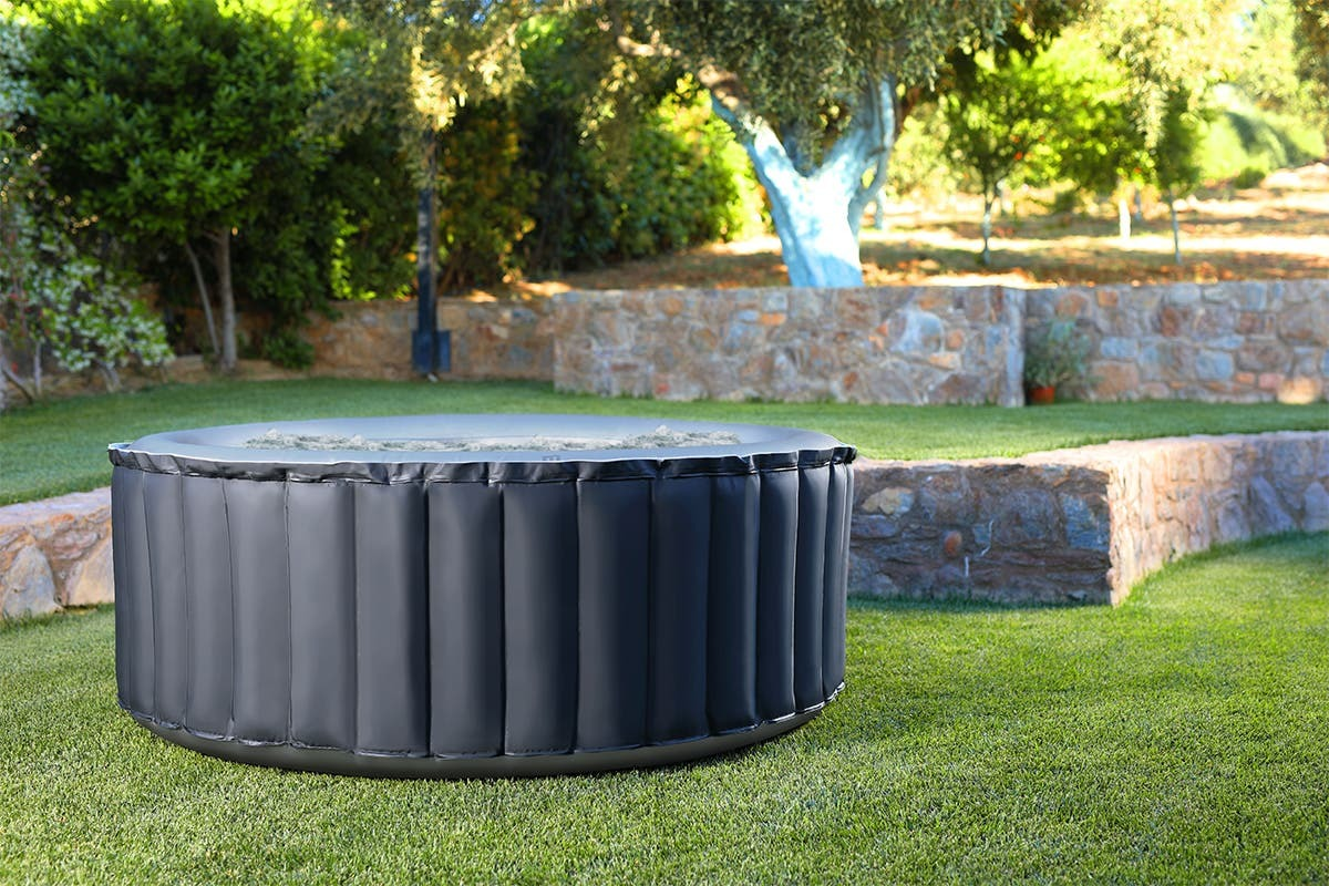MSpa Silver Cloud Inflatable Portable Outdoor Hot Tub Massage Spa Pool image