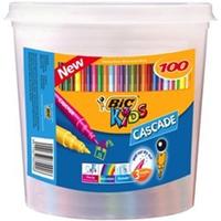 Bic: Kids Cascade Felt Tip Colouring Pens - Tub of 100