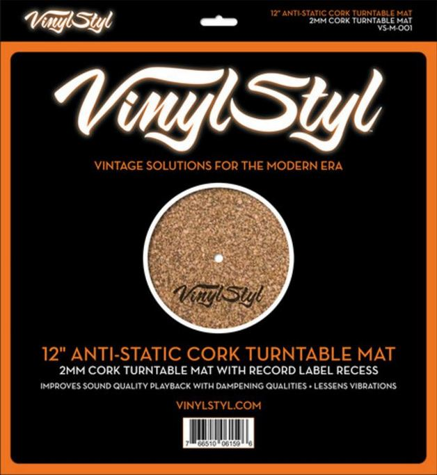 Vinyl Styl: 12″ Anti-Static Cork Turntable Mat