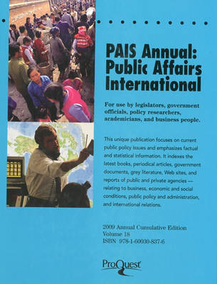 Pais Annual: Public Affairs International by P Wedlock