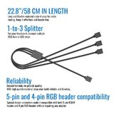 Cooler Master 1to3 RGB Splitter Cable