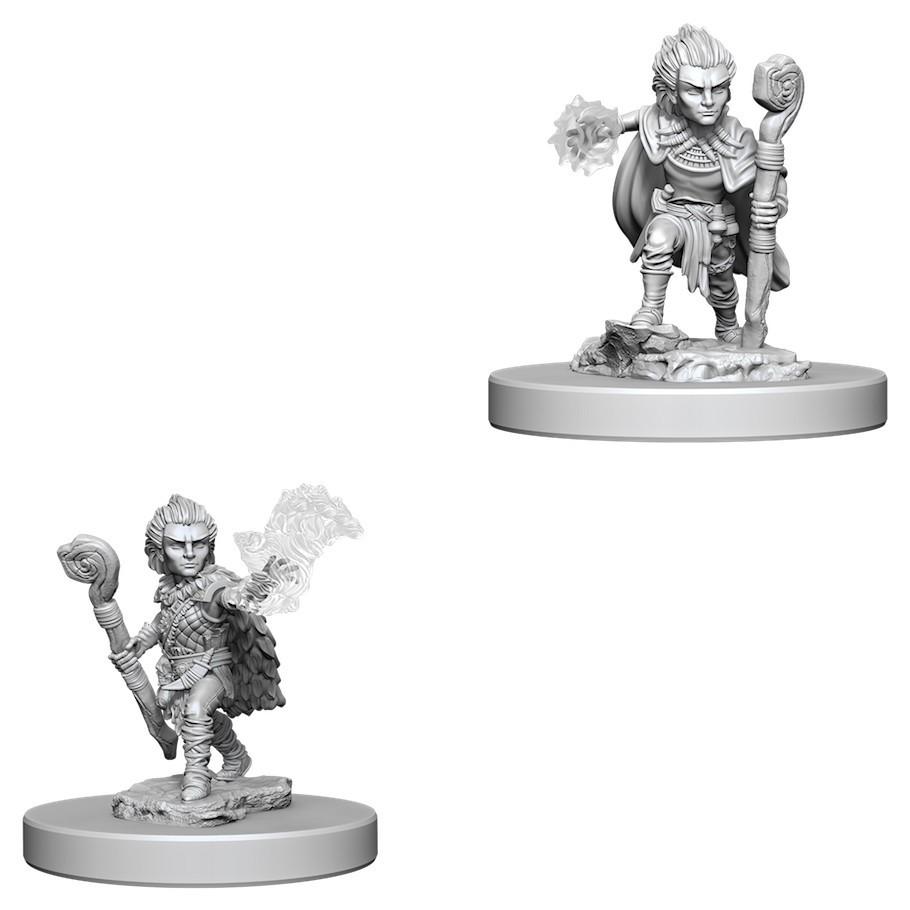 Pathfinder Deep Cuts: Unpainted Miniature Figures - Gnome Male Druid image