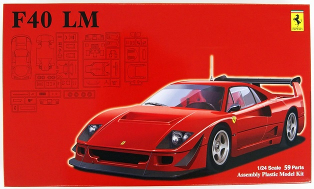Fujimi: 1/24 Ferrari F40 LM - Model Kit