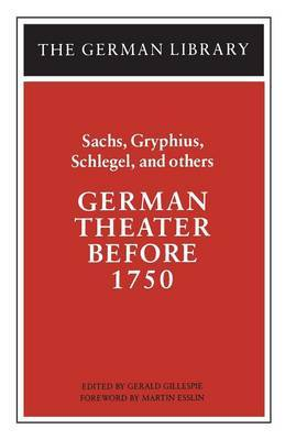 German Theatre Before 1750 by Hans Sachs