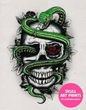 Skull Art Prints: 20 Removable Posters by Various Artists