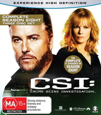 CSI - Las Vegas: Complete Season 8 (3 Disc Set) on Blu-ray