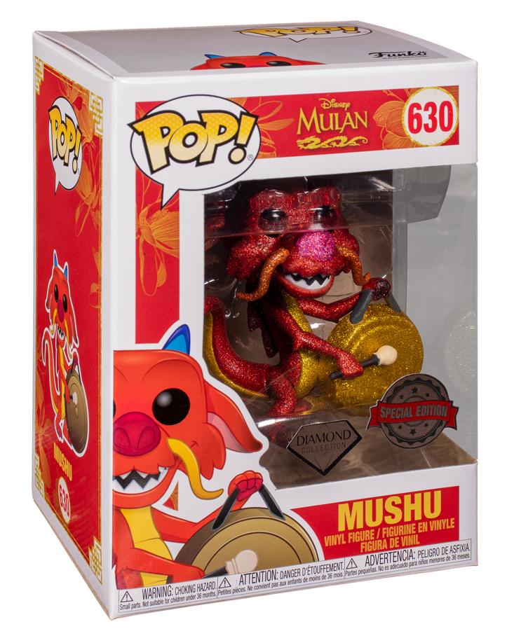 Disney's Mulan: Mushu with Gong (Diamond Glitter) - Pop! Vinyl Figure image