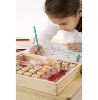 Melissa & Doug: Favorite Things Wooden Stamp Set