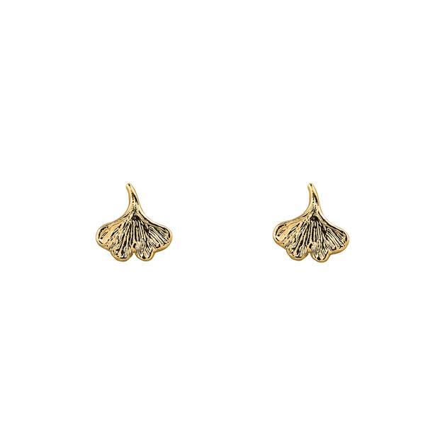 Short Story: Earring Ginko Leaf Gold