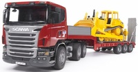 Bruder Scania Low Loader & Bulldozer