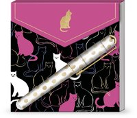 Lady Jayne: Matchbox Notepad - Cat Silhouettes