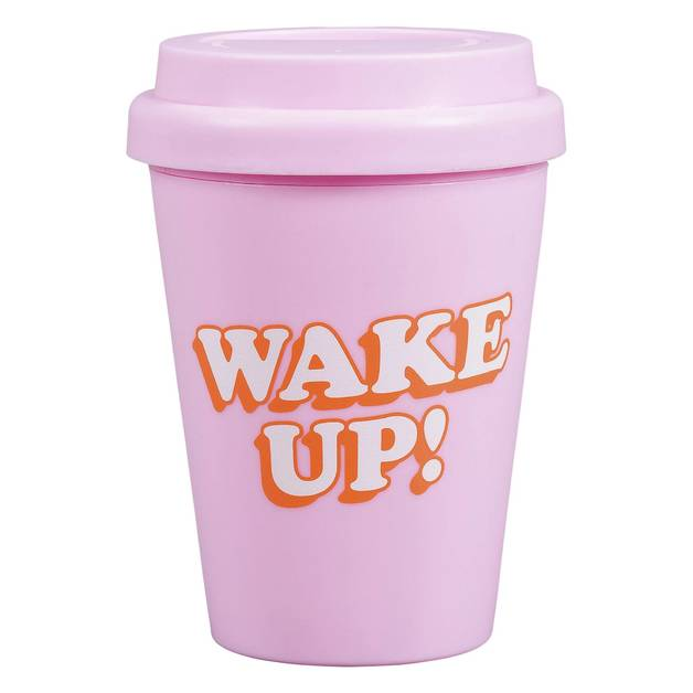 Yes Studio: Small Travel Mug - Wake Up