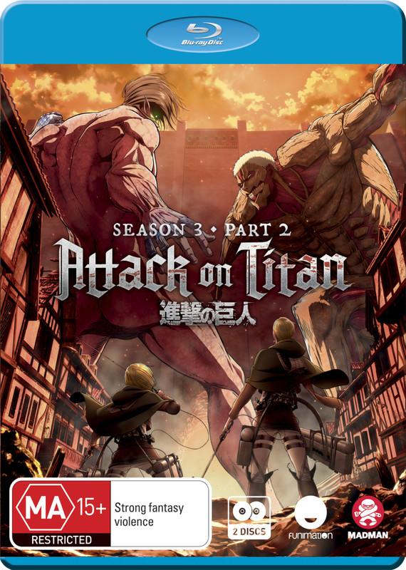 Attack on Titan - Season 3: Part 2 (Eps 50-59) on Blu-ray