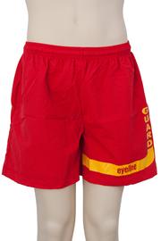 Eyeline Guard Logo Shorts Taslon - Red (Large)