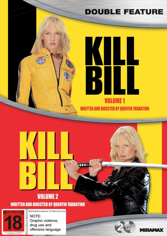 Kill Bill: Volume 1 / Volume 2 on DVD