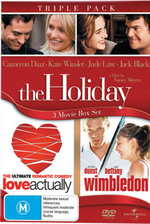 Holiday / Love Actually / Wimbledon - Triple Pack (3 Disc Set) on DVD