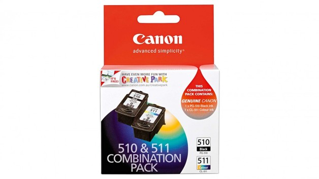 Canon PG510 + CL511 Combo Pack Ink Cartridges