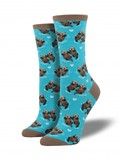 Significant Otter Socks - Bright Blue
