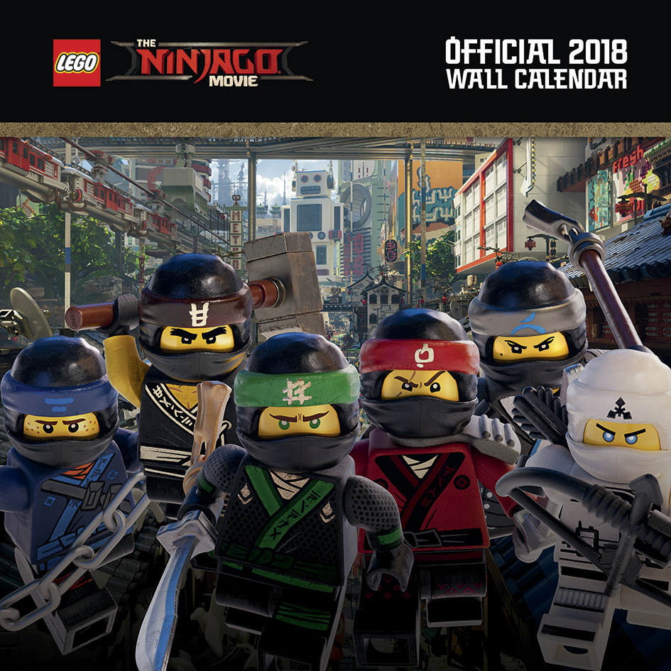 Lego Ninjago 2018 Wall Calendar image
