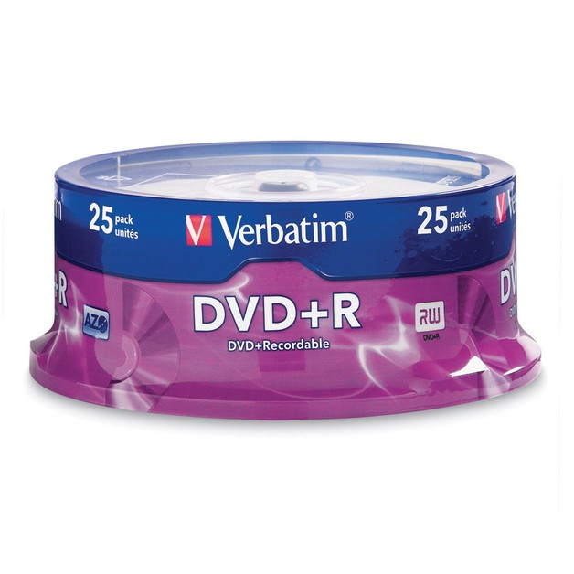 Verbatim DVD+R 4.7GB Spindle 16x (25 Pack)