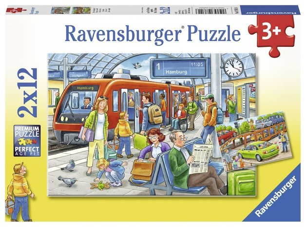 Ravensburger : Please get In! Puzzle 2x12pc