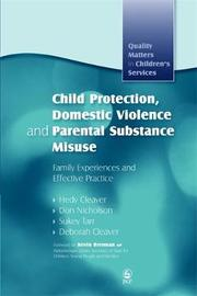 Child Protection, Domestic Violence and Parental Substance Misuse by Hedy Cleaver image