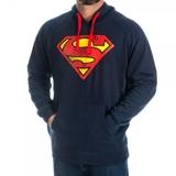 Superman Logo Navy Hoodie (Medium)