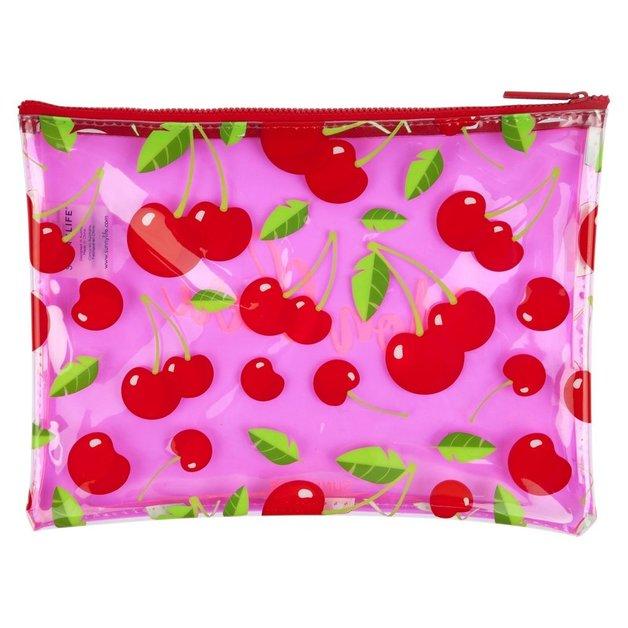 Sunnylife See-Thru Pouch (Cherry)
