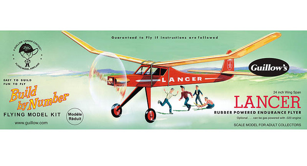 "Lancer 24"" Wingspan Aircraft Model Kit"