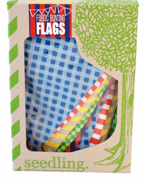 Seedling: Fabric Bunting Flags - White Rabbit
