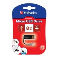 Verbatim Store'n'Go Micro USB Drive - 8GB (Black) image