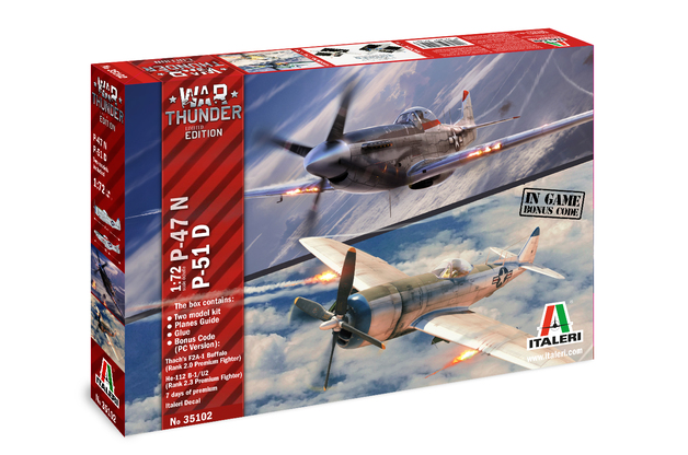Italeri 1/72 War Thunder Combo P47N/P51D - Model Kit