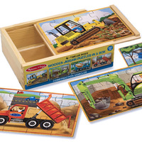 Melissa & Doug: Wooden Construction Jigsaw Puzzles in a Box image