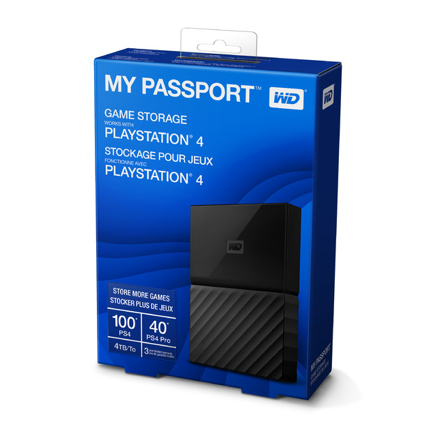 4TB WD Game Drive for PlayStation 4 for PS4